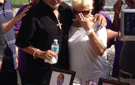Ted Orama's sister, Addie Navarro, and her husband Felix Navarro mourn the death of their family member.