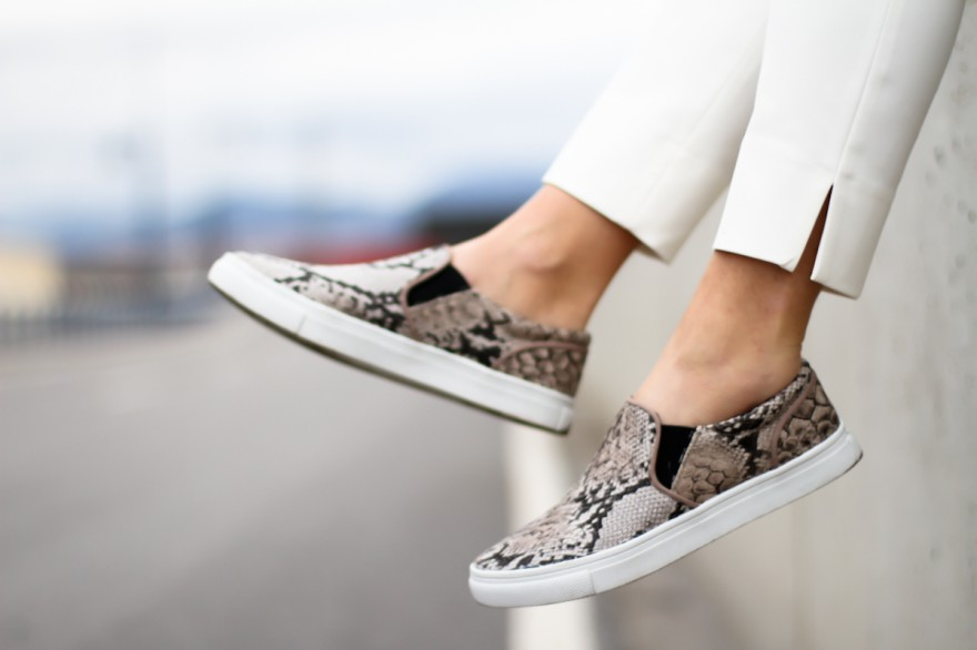 Faux snake skin printed slip ons from H&M.