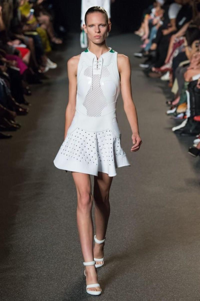 Sportswear inspired look from the Alexander Wang SS15 runway show.