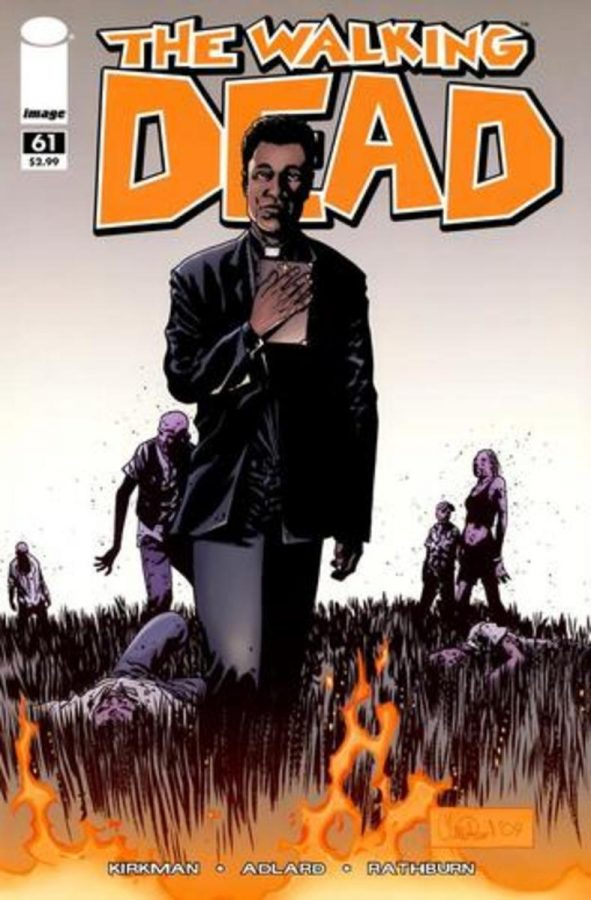 Issue+61+cover+of+%22The+Walking+Dead%22+comic%2C+featuring+the+introduction+of+Father+Gabriel.+Comic+art+by+Charlie+Adlard.