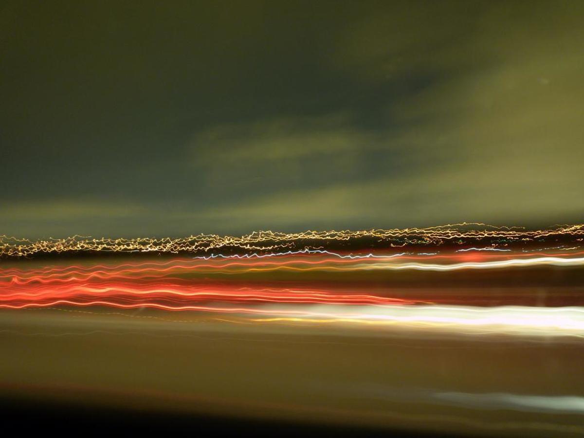Digital long exposure of Miami International Airport