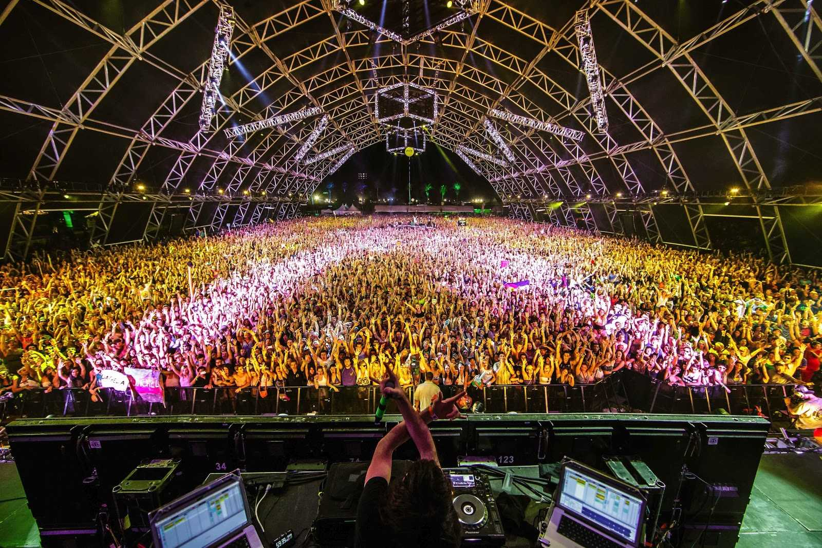 Bassnectar  performs live at Coachella.