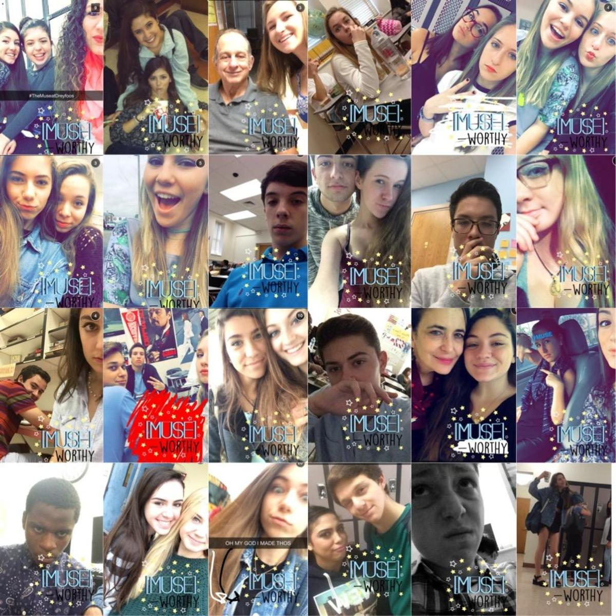 A collage of snaps made public by students featuring the new filter.