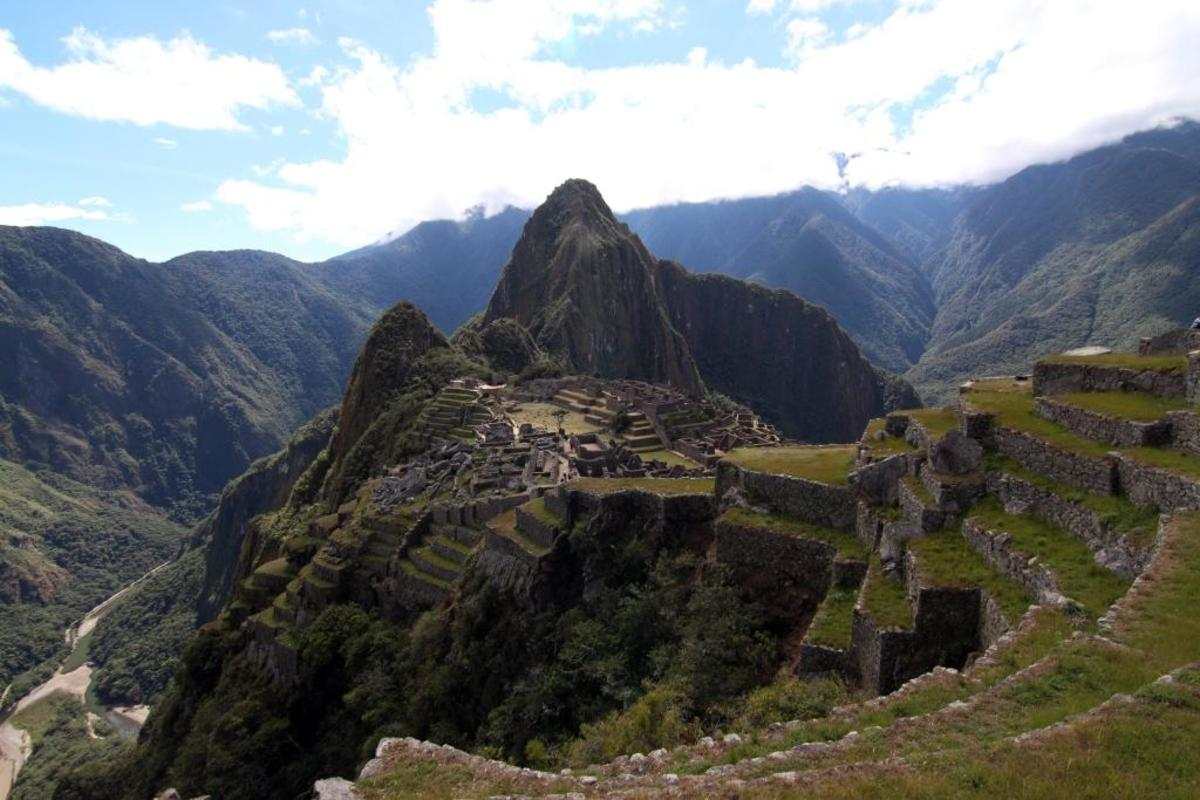 Ancient royal retreat of Machu Picchu, found by European explorers in 1914. It has since been renovated and is one of the most popular tourist destinations in the world.
