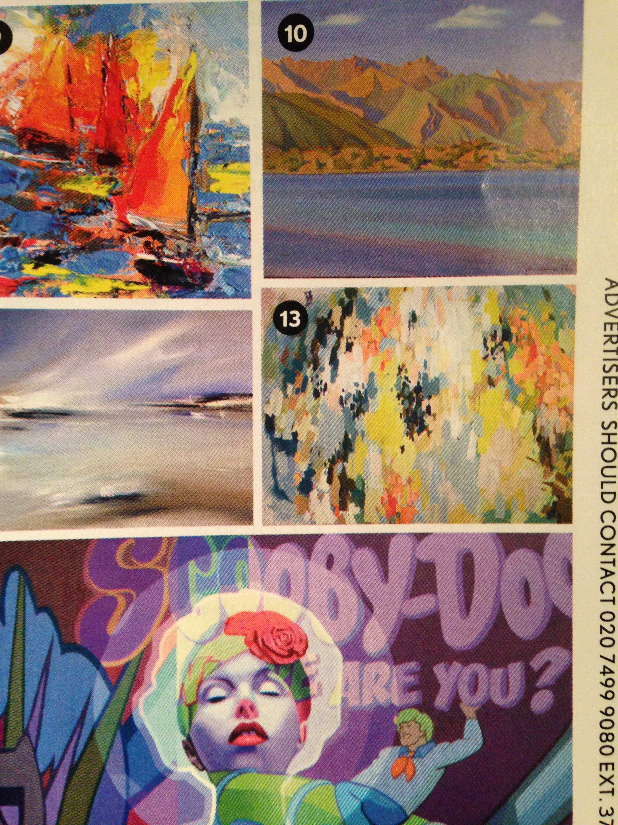 (center right) Visual senior Madison Bloch's artwork featured in the January issue of British Vogue.