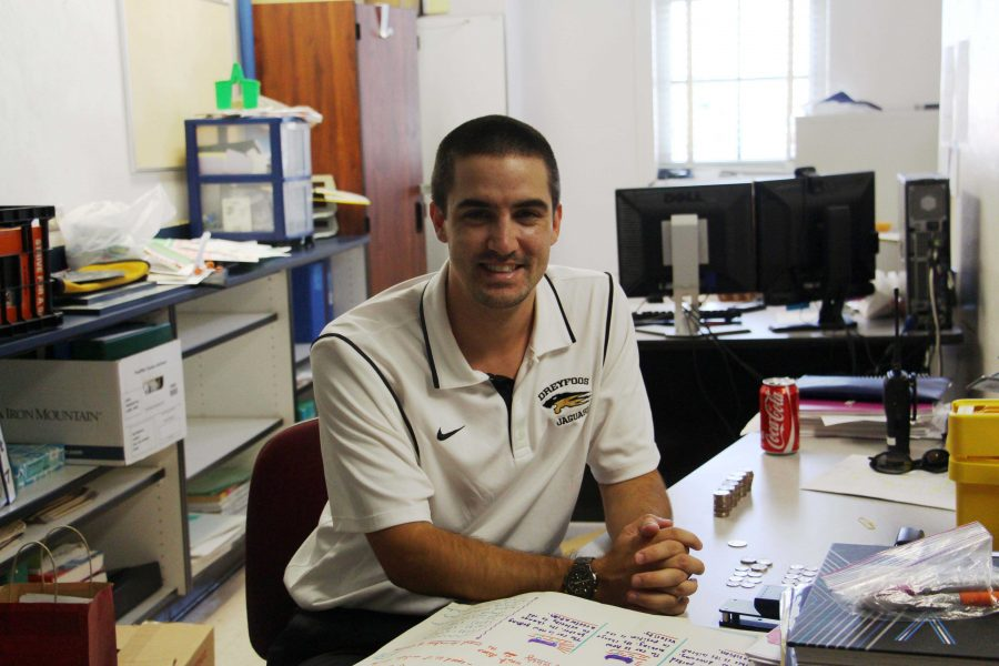 Math teacher, Track and Field Coach and Atheletics Director Christopher Burns says his final goodbyes to Dreyfoos.