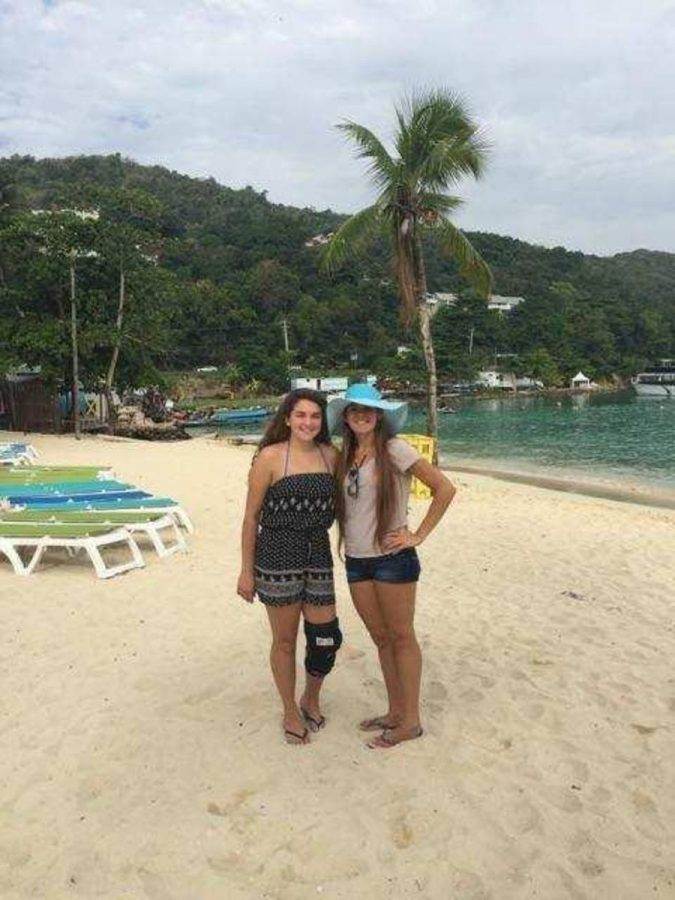 Communications+junior+Alana+Gomez+%28left%29+stands+with+her+sister%2C+Brianna+%28right%29%2C+in+Ocho+Rios%2C+Jamaica.++