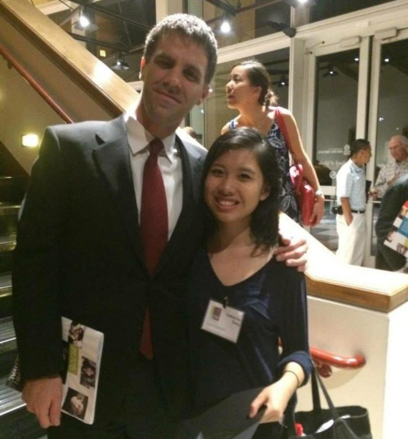 Piano senior Catherine Zeng stands with her professor at Southeastern Piano Festival, Dr. Joseph Rackers.