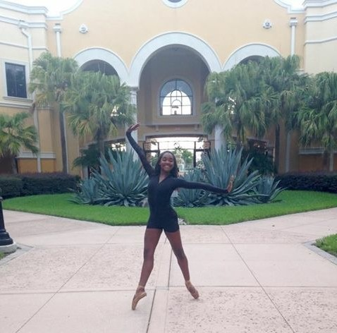 Dance senior Ashley Simpson poses in front of the Orlando Ballet  campus.