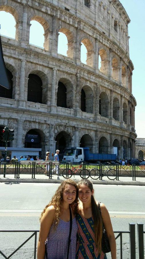 Communications+junior+Alana+Gomez+%28left%29+stands+alongside+her+sister+in+front+of+the+Colosseum+in+Rome%2C+Italy.++