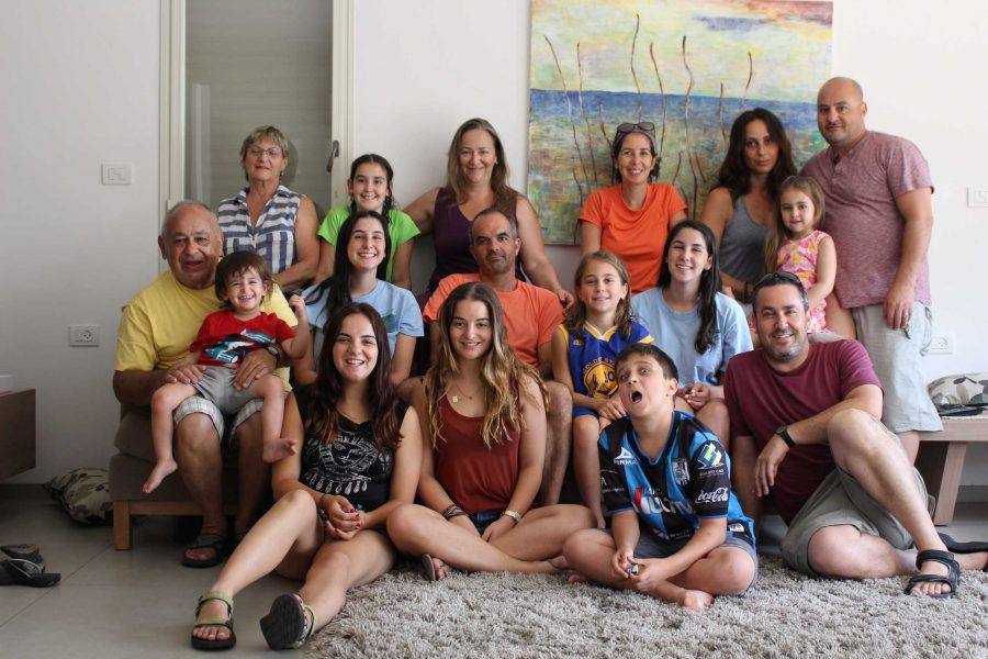 Communications junior Tom Kapitulnik with her entire family in Israel, where she plans on living while taking a gap year.