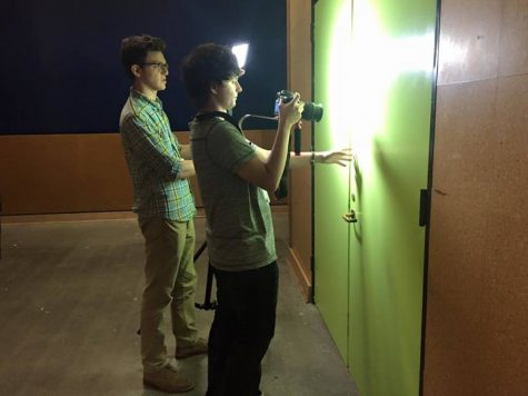 "Communications junior Matt Nadel (L) gets hands-on training in cinematography at CALARTS.  ""This experience undeniably made me a better filmmaker in every way,"" Nadel said."