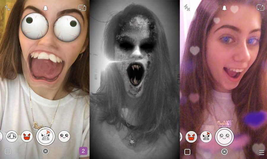 Snapchat's recent update features different lenses to morph the appearance of selfies with crazy eyes, scary demons, hearts, and much more. Snapchat has also added more emojis to describe specific relationships between two users.