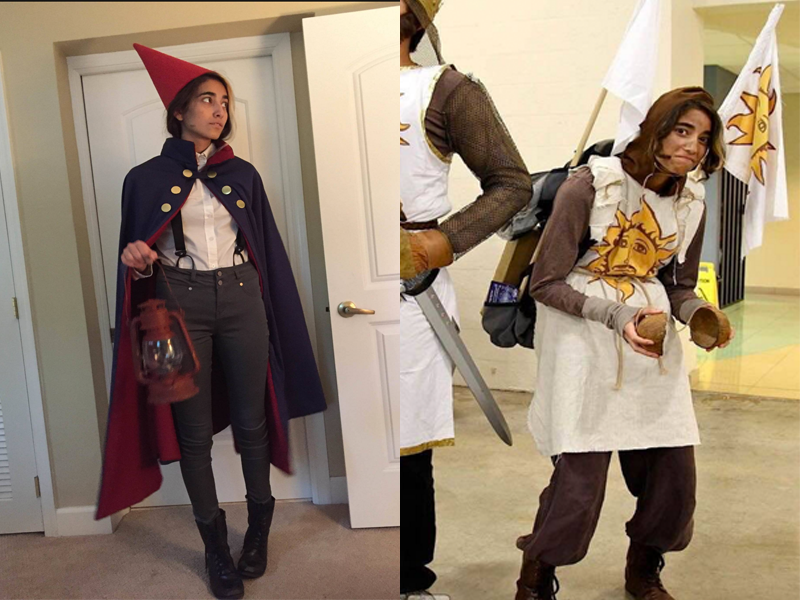 Visual Junior Alia Payne In Her Cosplay Of Wirt From Over The Garden Wall