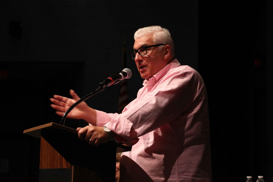 Mr. Mitch Winehouse talks to Dreyfoos students about his daughter, Amy Winehouse and about drug and alcohol addiction. He shared stories about her life as a performer, and her struggles with fame and her addiction.