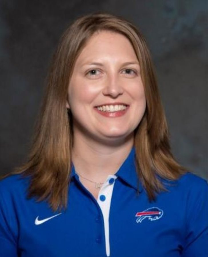 Kathryn Smith is the first full time female assistant coach to be hired in NFL history. Smith was the administrative assistant coach to the Buffalo Bills head coach Rex Ryan before gaining her new title as the special teams quality control coach.
