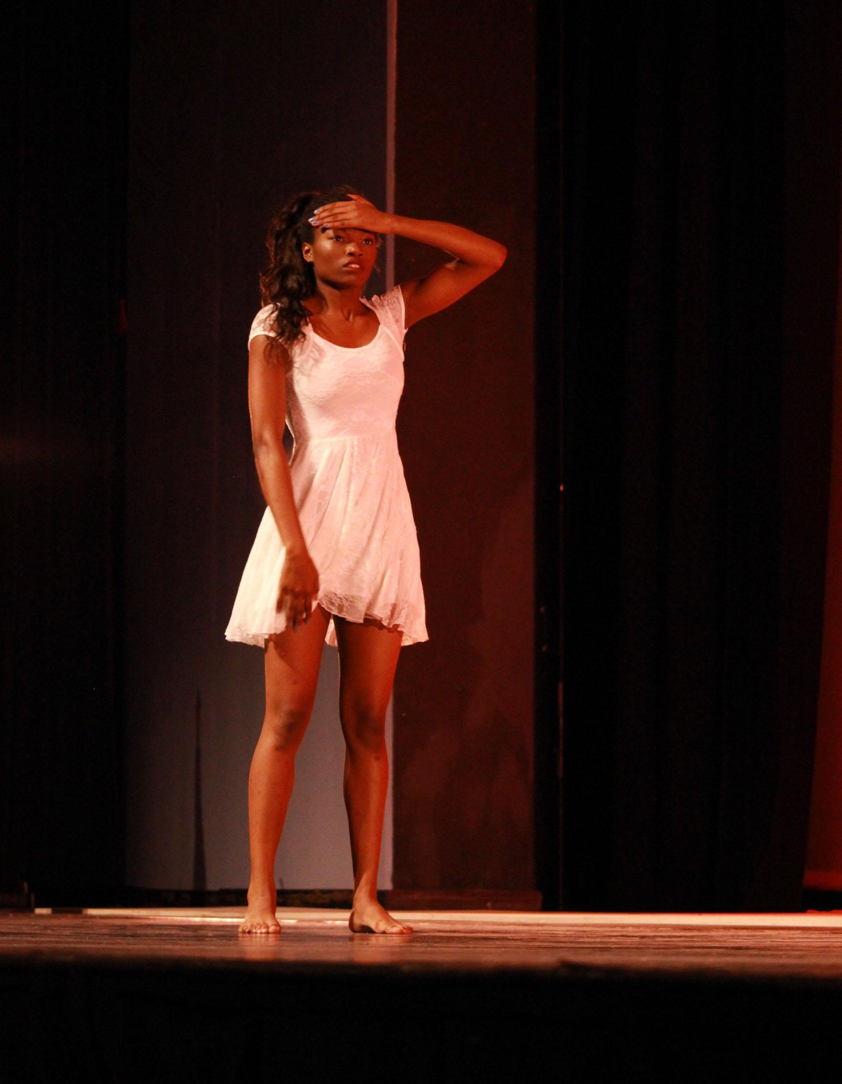 Dance junior Makia Bogle performs during the Black History showcase on Feb.4. Bogle has been dancing for the past 13-years.