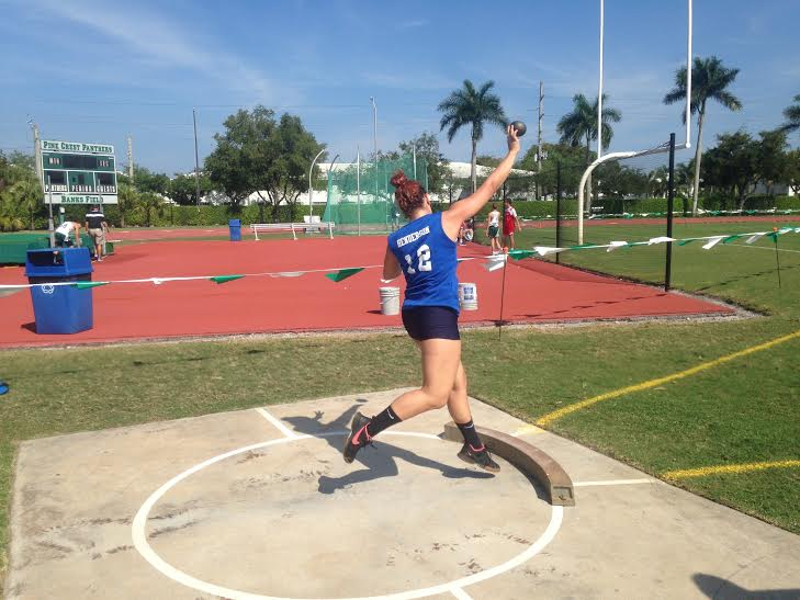 Vocal+freshman+Emese+Nemeth+competes+in+the+shotput+event+at+the+2015+middle+school+states+qualifier+with+her+school+A.D.+Henderson+University+School+%26+FAU+High+School.+Her+throw+of+31.2+feet+allowed+Nemeth+to+place+first+and+move+on+to+states.+