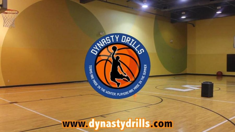The official promotional image for Dynasty Drills basketball training.