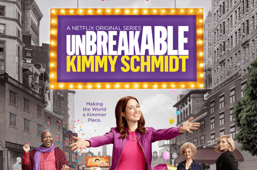 """Official poster for season two of the Netflix original series """"Unbreakable Kimmy Schmidt"""" which was released on April 15."""