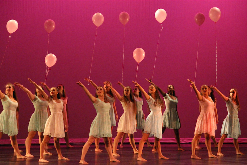 """The night ended with a rendition of """"Unforgettable Journey"""" choreographed by dance senior Francesca Horvath. The dancers wore balloons around their wrists, which they released into the air at the end. Overall, the routine signified both the closing of a chapter and the start of a new beginning."""