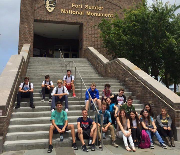 Before they got to work, on their first day of their trip, 2016 Project Tikvah attendees took a tour of historic Fort Sumter.