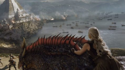 Daenerys uses her dragons to fend off the attacking Masters in Meereen.