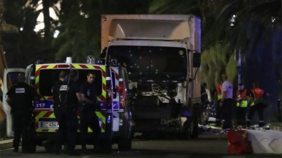 The Lorry the attacker used in the Nice attack that left 84 dead.