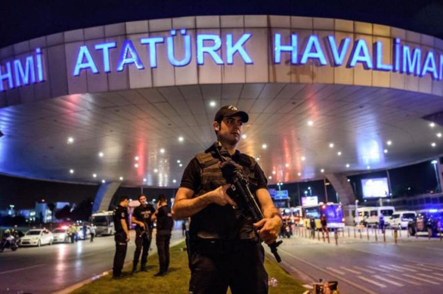 The Istanbal Ataturk airport under lockdown after a terrorist attack on June 26.