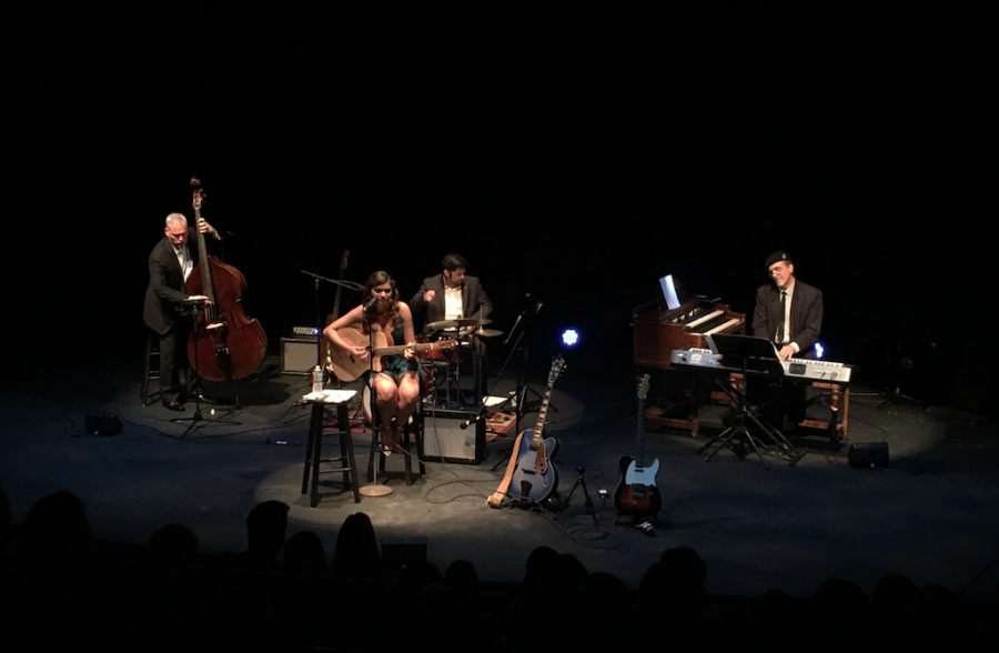 Strings junior Nikki Lickstein performs her song