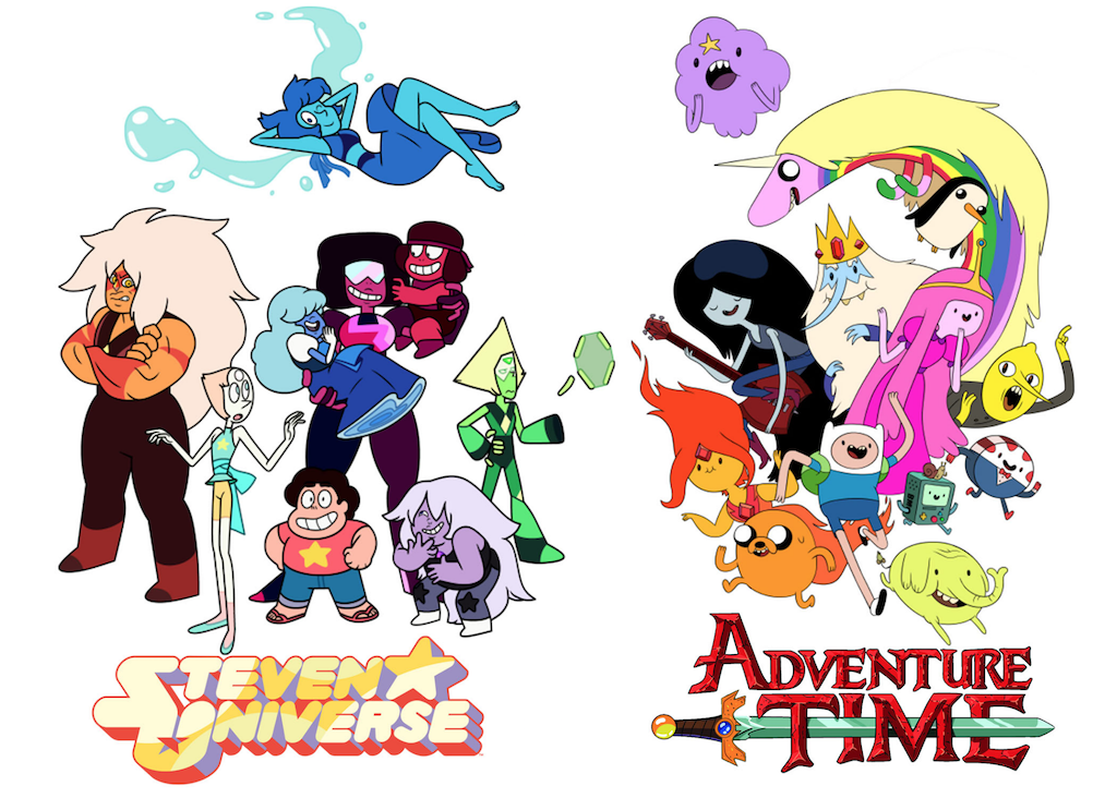 Steven Universe and Adventure Time are examples of cartoons that include meaningful subjects that are rarely discussed in other media.