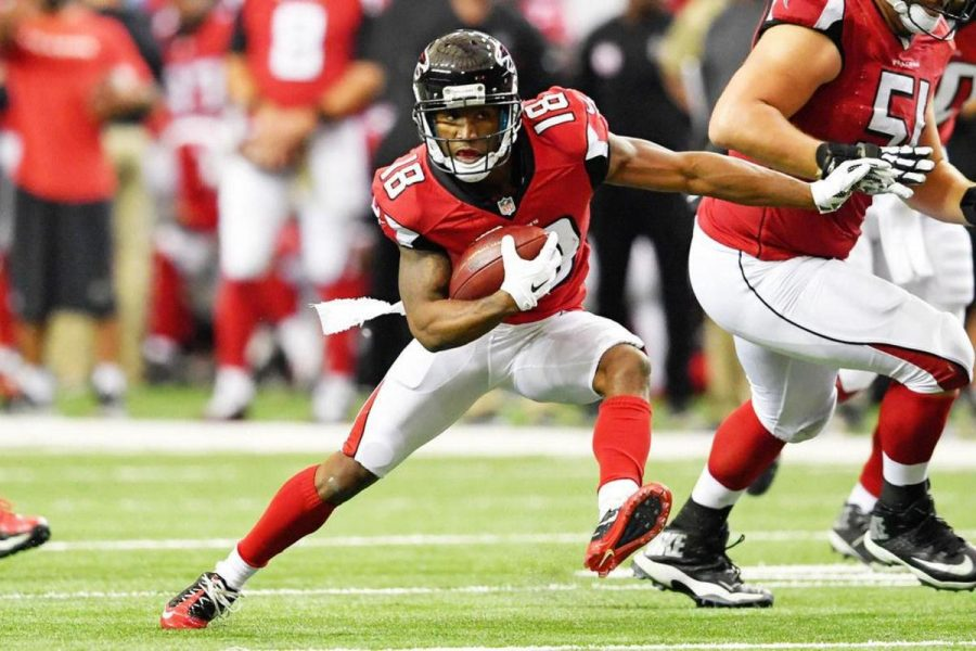 Wide receiver Taylor Gabriel is responsible for five of the Atlanta Falcons' scores in the past four weeks.