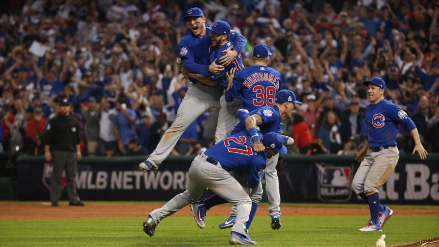 On Nov. 2 the Chicago Cubs won the Major League Baseball (MLB) World Series, a first since 1908.