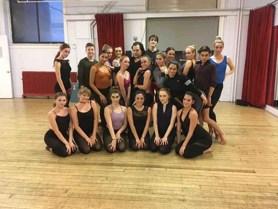 The group after their fosse masterclass with Peter Yuen at Broadway Dance Center on Thursday (1/19).