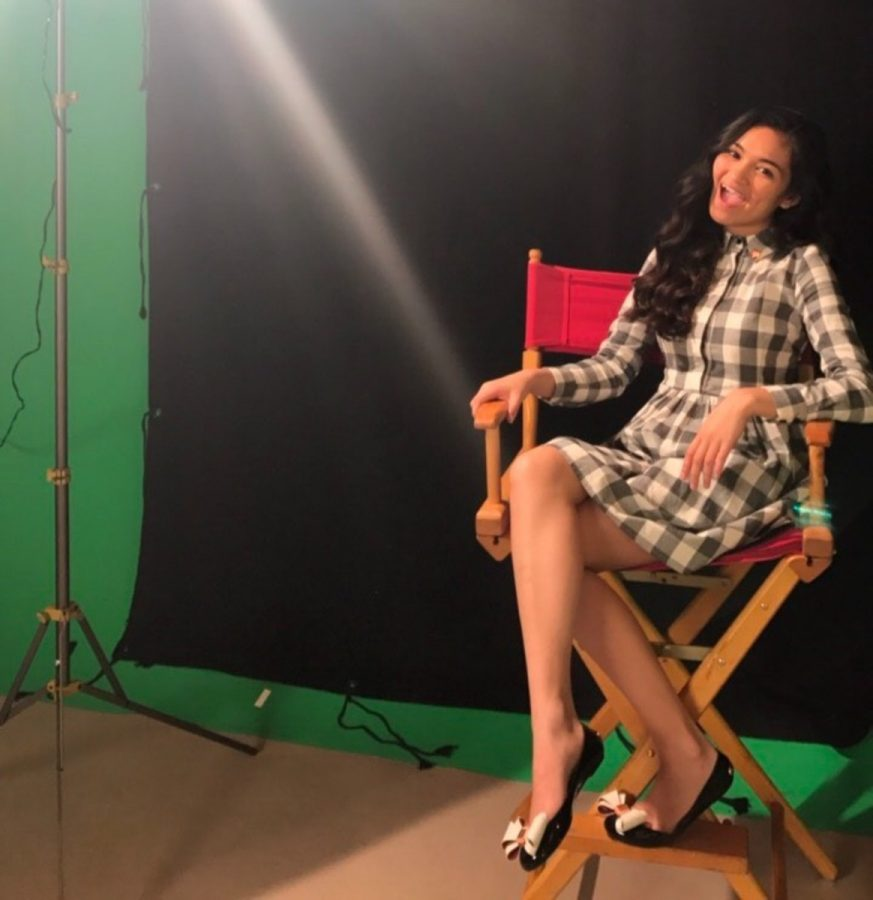 """Uriel Baldesco poses while on her set for the upcoming Nickelodeon show """"I am Frankie""""  as the character Lucia Baxter."""