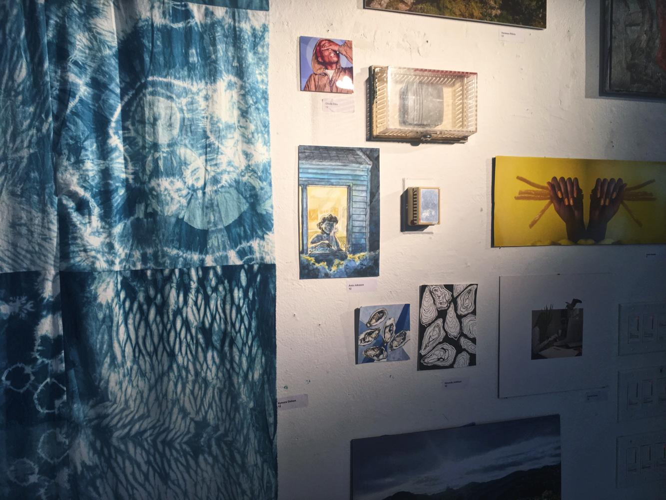 Decorating the walls of Building 9, artwork that spanned from photographs to articles of clothing adorned the walls. Students showcased their summer pieces at the annual Visual/Digital Fall Showcase on Sept. 27.