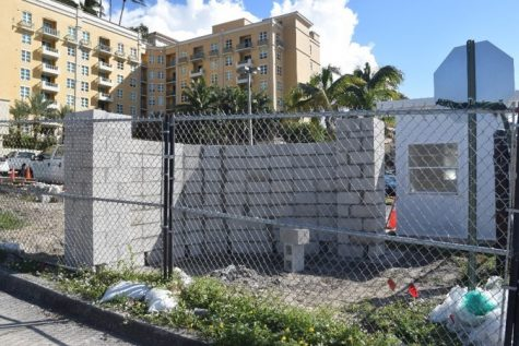 Campus construction: New Dreyfoos gate and sign