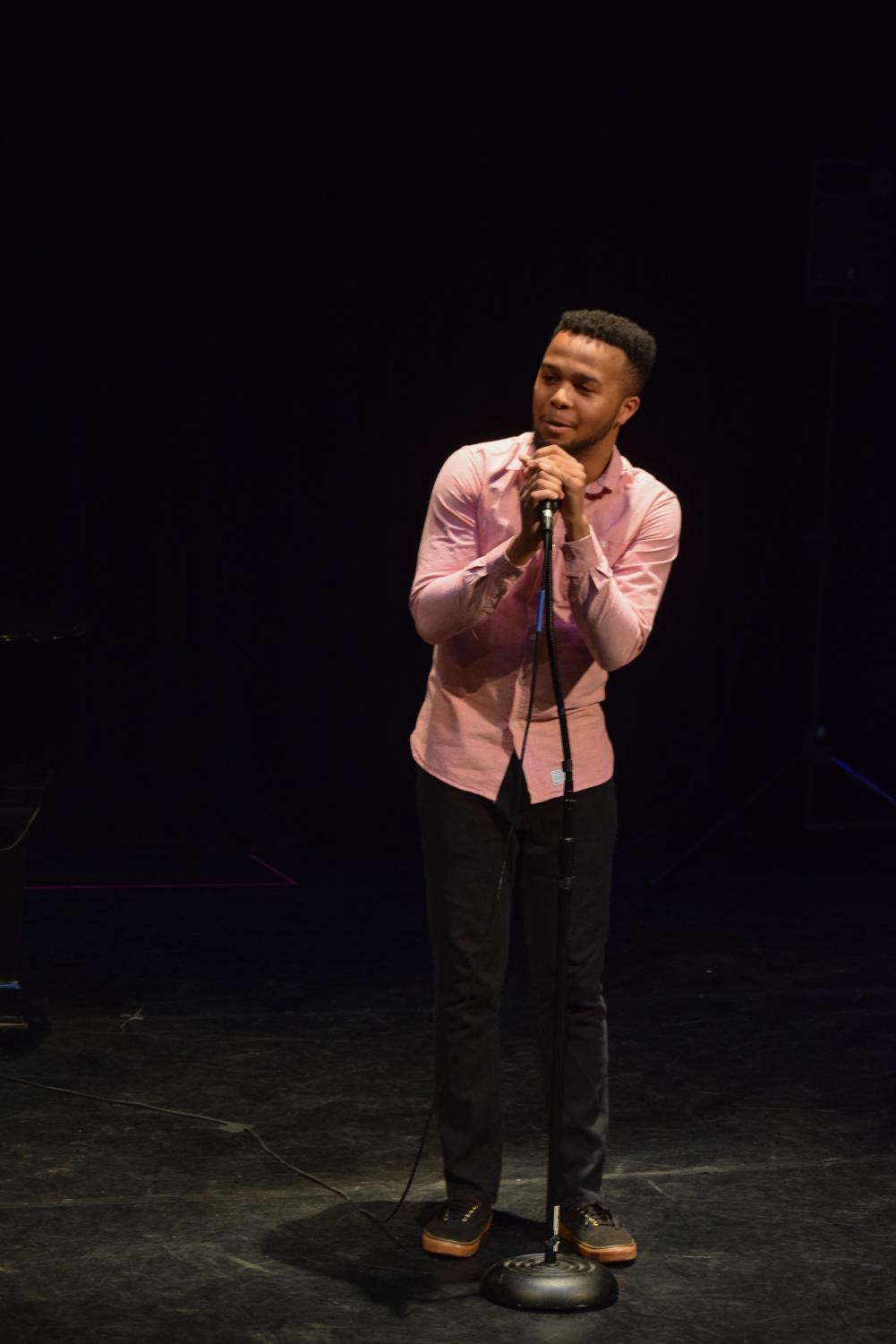 "Vocal senior Dylan Melville made the crowd emotional, dedicating the performance to his 5-year-old cousin who recently passed away. ""It's a song I always hoped to sing to him, and I know he was here watching over me,"" Melville said. His cover of the song, ""Light in the Hallway"" by Audra May, drew a heartfelt reaction from the audience."