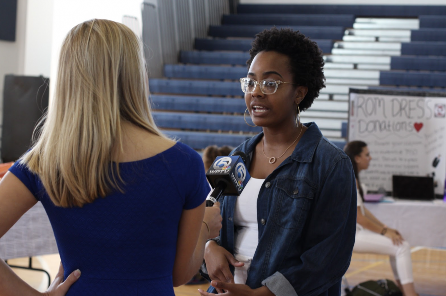 """Vocal senior Bijou Aliza is interviewed about her performance at the vigil by WPTV. """"My singing today was to honor those lives and to bring awareness,"""" Aliza said. """"It is important to sing a song that speaks about we need to do to make a change and that it needs to happen now."""" Aliza performed a cover of """"Jealous"""" by Labrinth during the ceremony."""