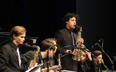 """The Jazz Band holds their first concert of the year, having been practicing since Sept. in order to perform for an audience.. The students and conductors worked together to put on a show where bassists, pianists, and saxophonists alike performed songs under jazz subgenres such as blues and ragtime. """"Usually as soon as one concert ends, we prepare for the next one,"""" band sophomore Fox Lopez said. """"At the start of each year, we normally start around the second week of school, give or take a few days."""""""