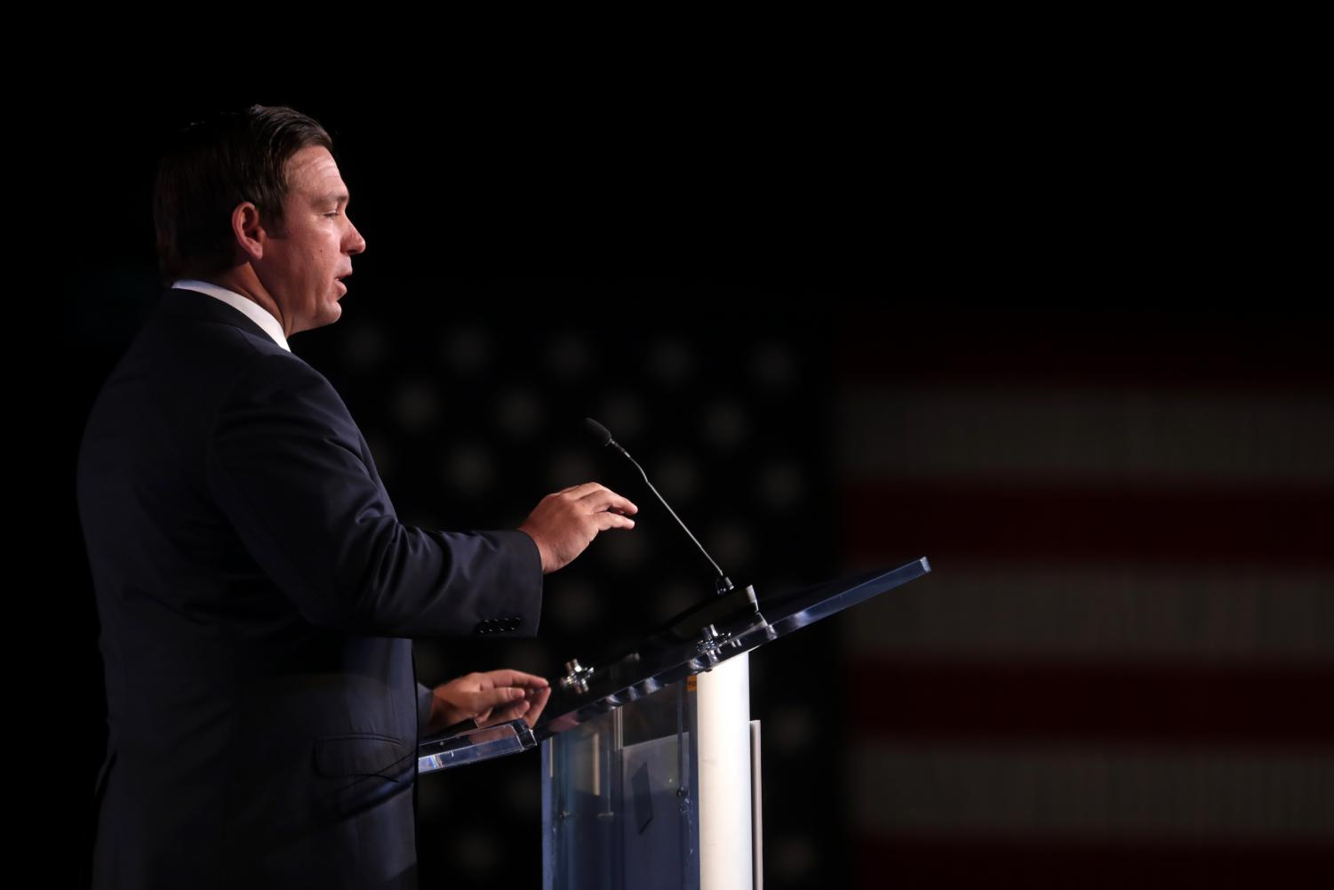 Ron DeSantis speaks at the 2018 Student Action Summit hosted by Turning Point USA at the Palm Beach County Convention Center.