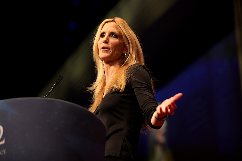"Ann Coulter speaks at the 2012 Conservative Political Action Conference in Washington, D.C. Despite a consistent record of conservative opinions, Coulter recently denounced President Trump as a ""shallow, narcissistic conman."""