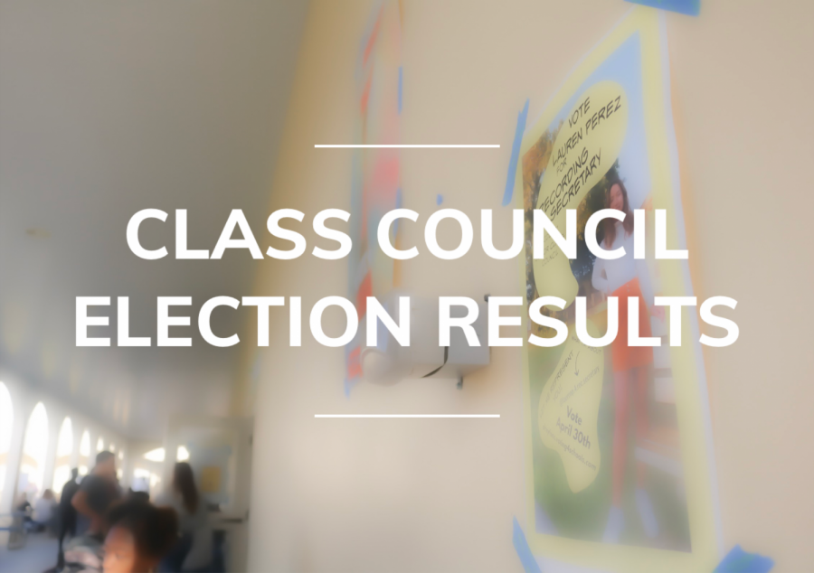 FRESHMEN CLASS COUNCIL ELECTION RESULTS