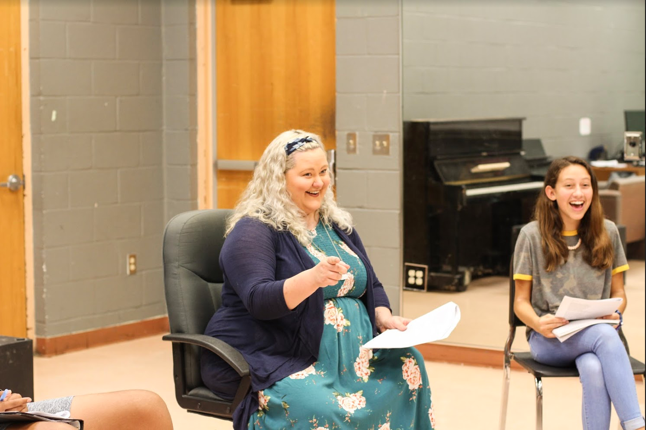 """Theatre teacher Savannah Whetsell works with her students closely to make sure they get the best opportunity to thrive. She enjoys working with her students, especially the freshmen, because she feels that she's """"the first person she sees when they come into the department from middle school."""""""