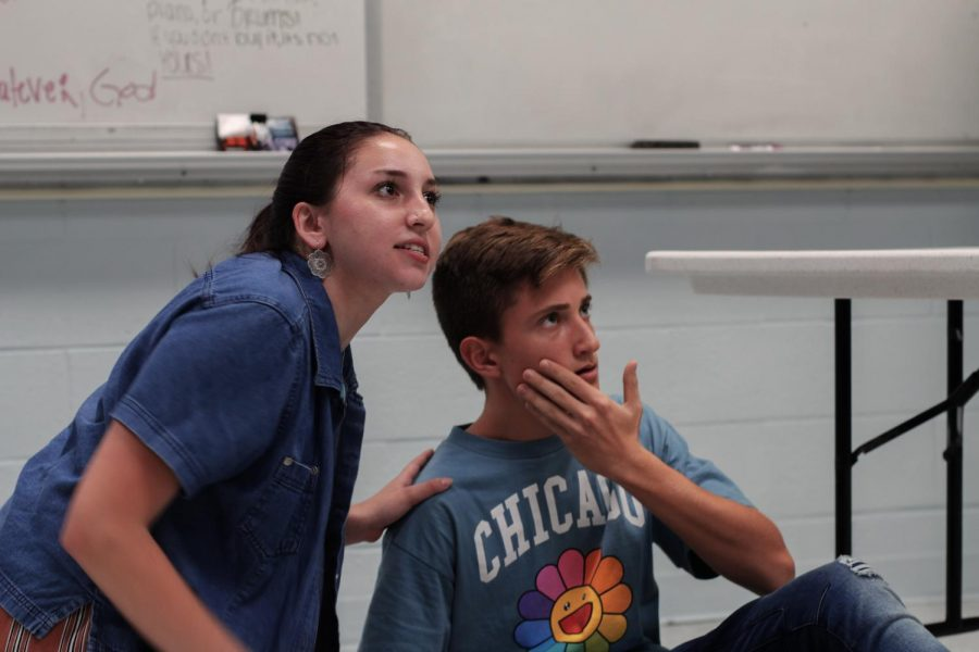 "Theatre juniors Alexa Rubenstein and Nathan Gomes played husband and wife in ""The Winter's Tale."" Rubenstein's character Paulina begins the first act trying to defend her friend, Queen Hermione of Sicilia, against Leontes's false accusation of adultery. ""She's really empathetic, especially toward women, because she recognizes the injustices at this time,"" Rubnstein said. ""She's very strong and fights for what she believes in, which is really admirable because in this time, not a lot of people did that."""