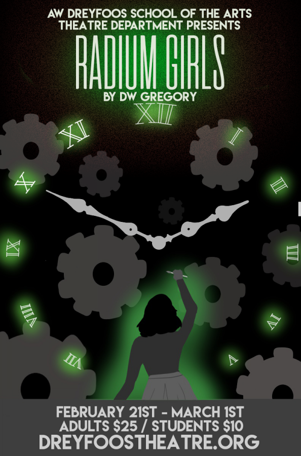 """""""Radium Girls"""" is set to debut on Feb. 21 in Meyer Hall. Combining the art of acting and the science of chemistry, the play takes on the controversial story of young factory workers who were poisoned by the radium in watch dials."""