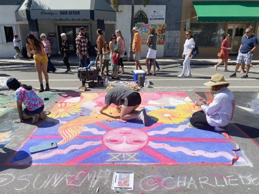 STUDENTS PARTICIPATE IN LAKE WORTH'S 26TH ANNUAL STREET PAINTING FESTIVAL