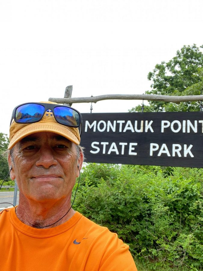 Brett Burkey, former social studies teacher, enjoys nature on a run through Montauk Point State Park. During his retirement, he has spent his time doing what he cares about most: staying fit and healthy. He has taken this opportunity to turn his COVID-19 affected retirement into an enjoyable time to do activities he loves.