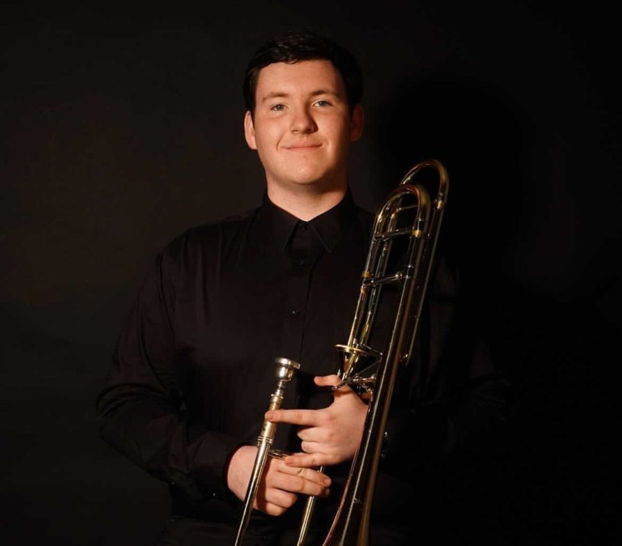 Band junior Aaron Abbey was among the four applicants selected to take part in renowned conductor Michael Tilson's masterclass.