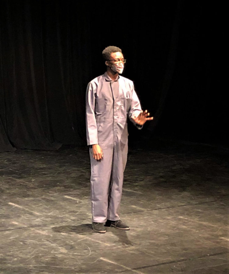 Saintil performs in the first scene of the show. He optimistically introduces the future as a time when